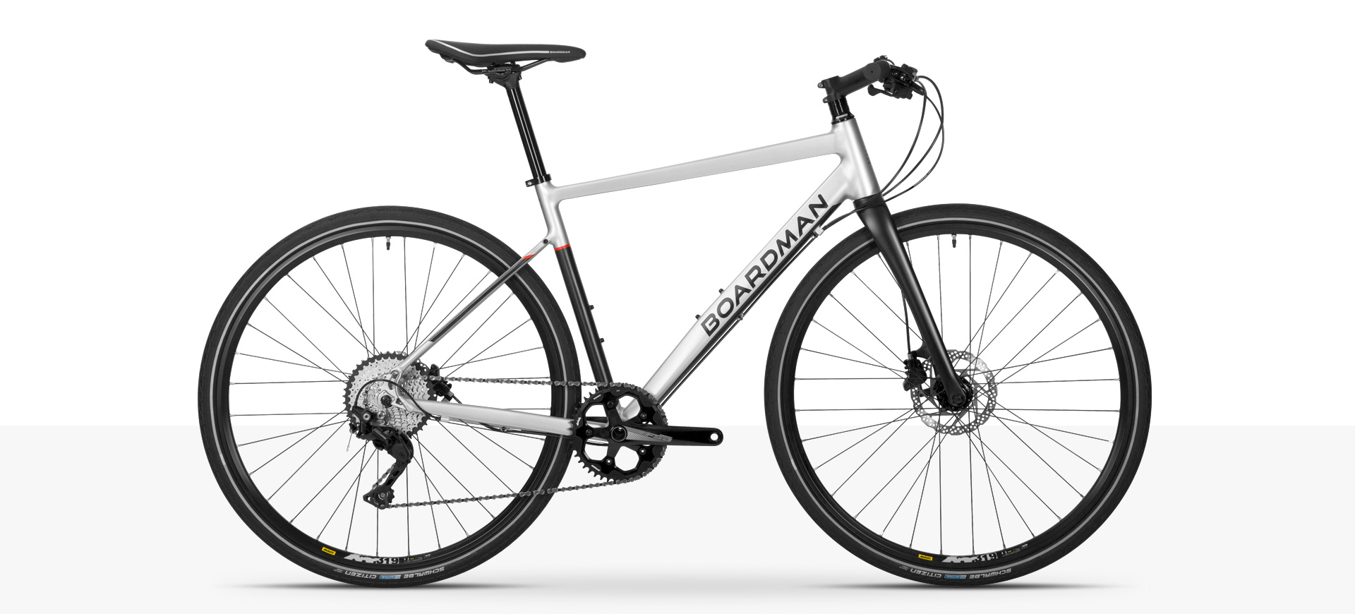 Boardman HYB 8.8 Hybrid Bike in Silver