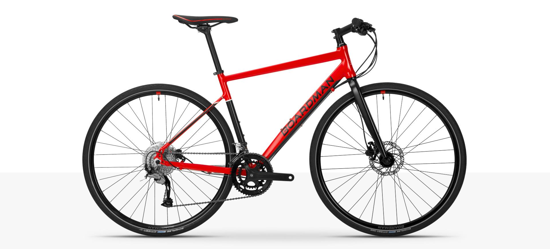 Boardman HYB 8.6 Hybrid Bike in Red