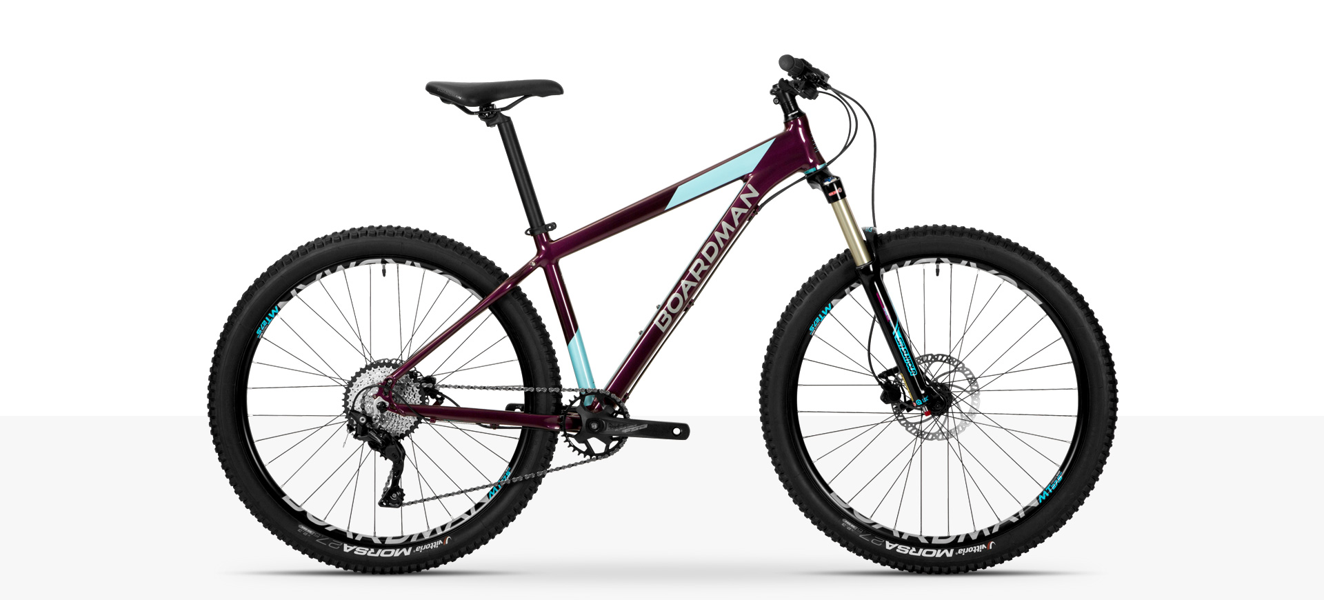 Boardman MHT 8.6 Womens' Hardtail Mountain Bike in Aubergine