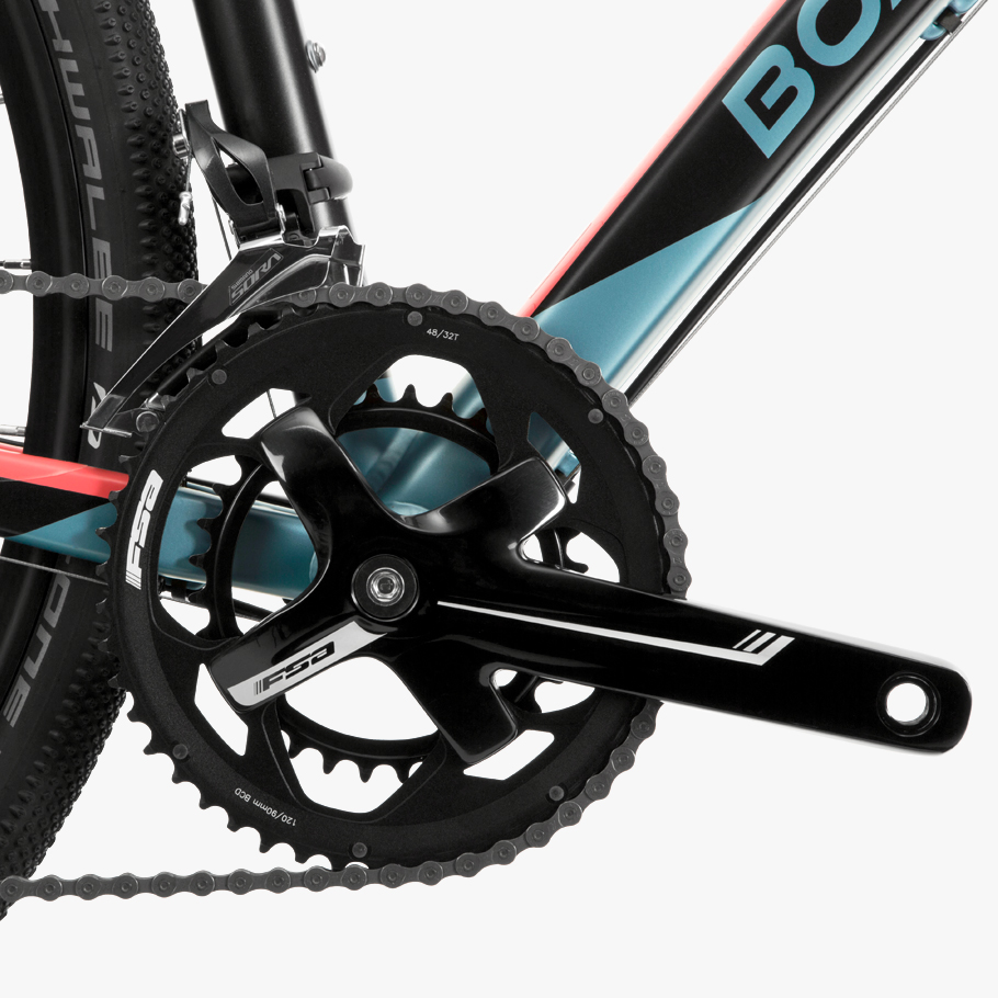 Boardman ADV 8.8 Women's Adventure Bike - Close-up of Groups