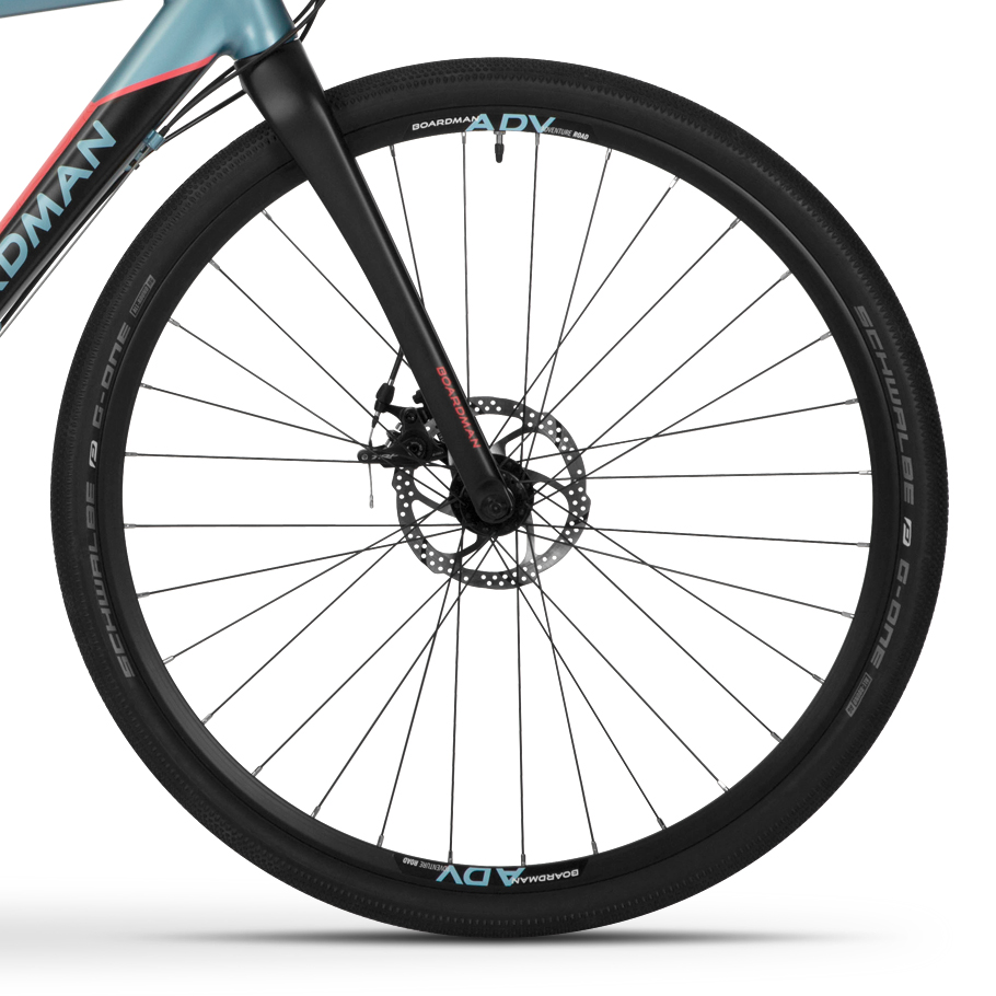 Boardman ADV 8.8 Women's Adventure Bike - Close-up of Wheels