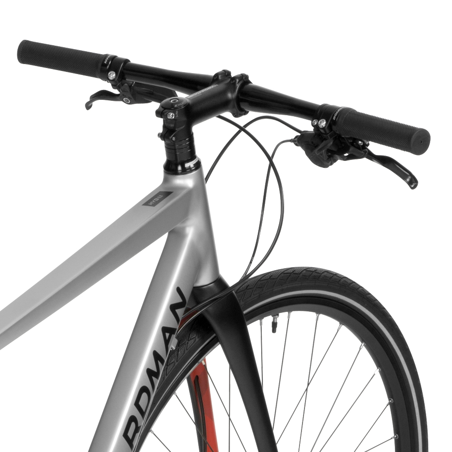 Boardman HYB 8.8 Hybrid Bike - Close-up on Handlebars