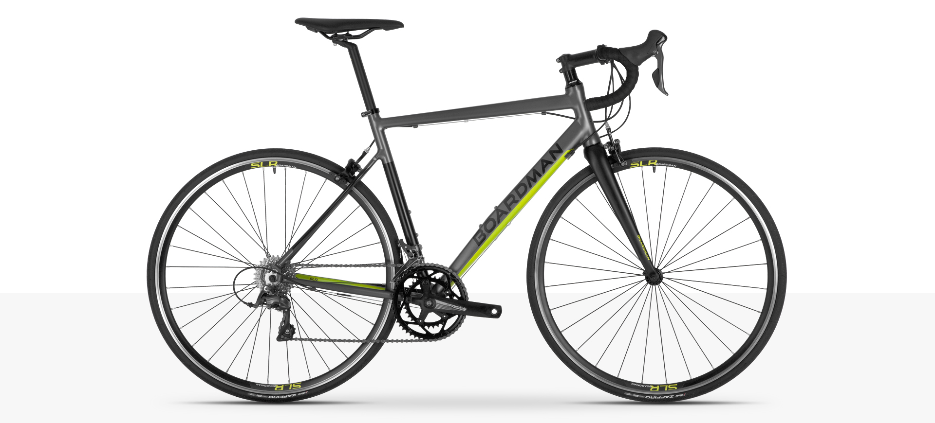 Boardman SLR 8.6 Alloy Road Bike in Grey & Fluro Yellow