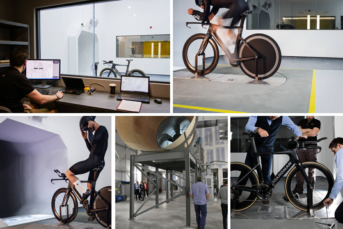 Boardman Performance Centre Wind Tunnel - Photo Collage