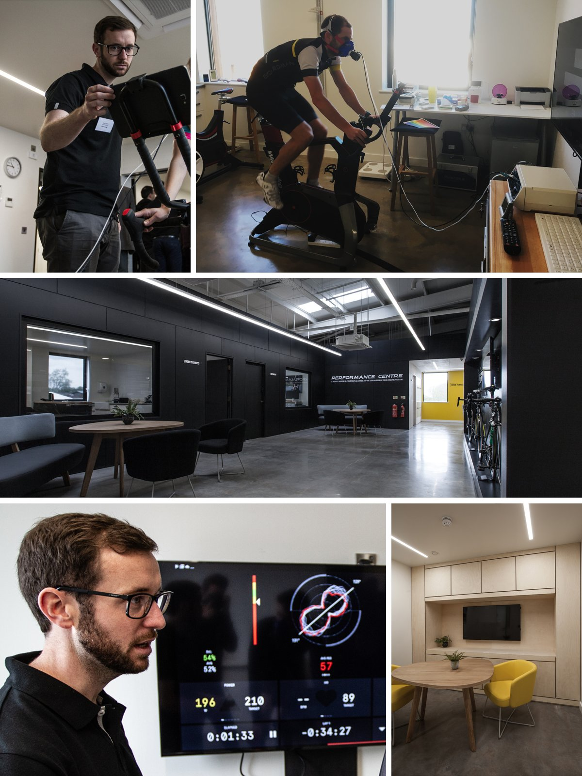Boardman Performance Centre Physiology Suite - Photo Collage