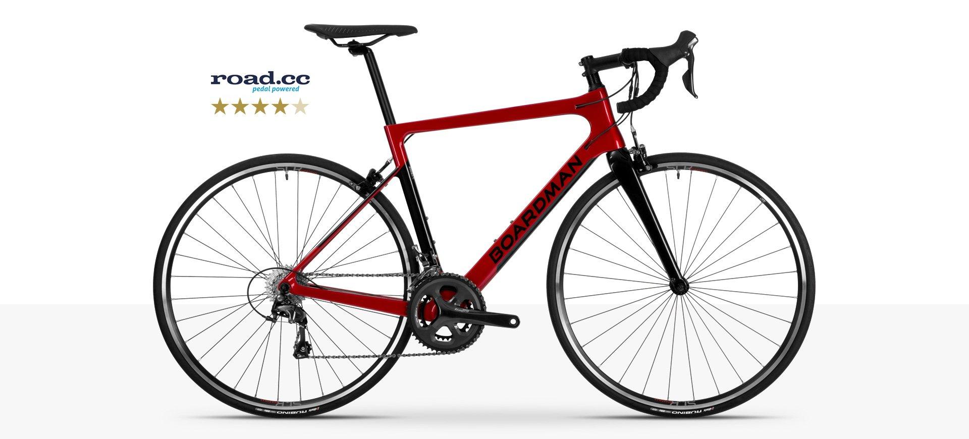 Boardman SLR 8 9 Red - Men's Carbon Road Bike in Red | Boardman Bikes