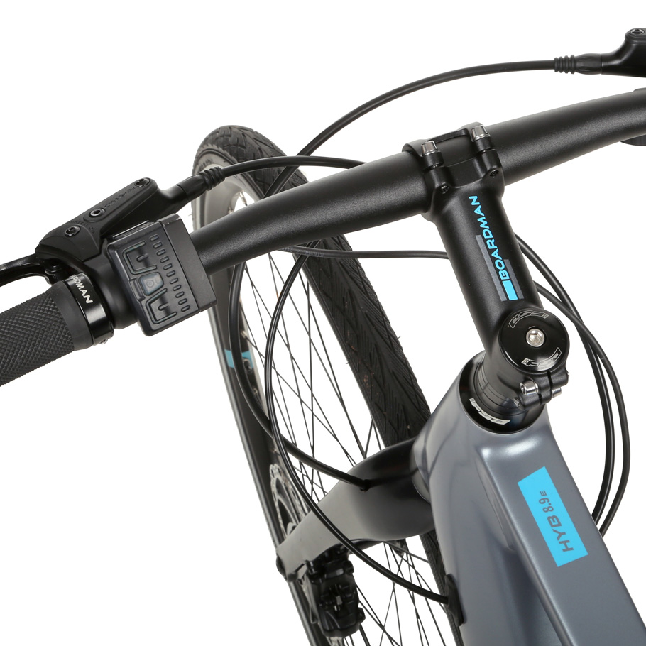 Boardman HYB 8.9 E Hybrid Bike - Close-up of Handlebars