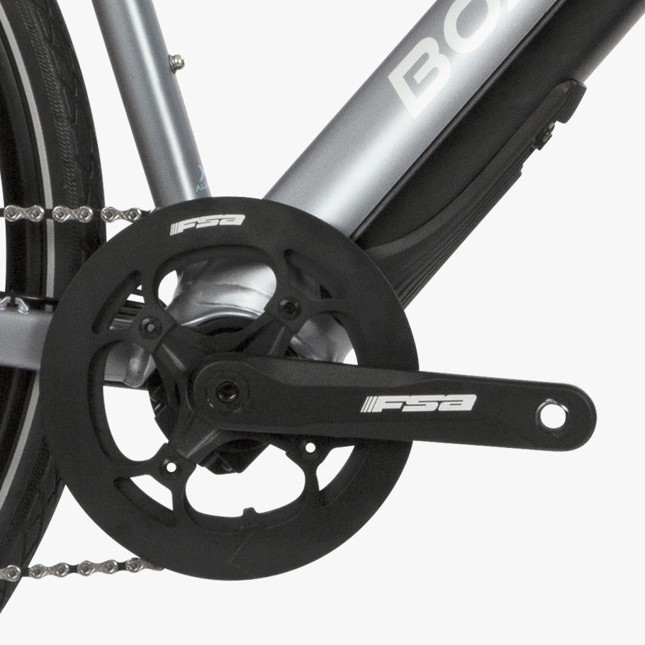 Boardman HYB 8.9 E Hybrid Bike - Close-up of Groupset