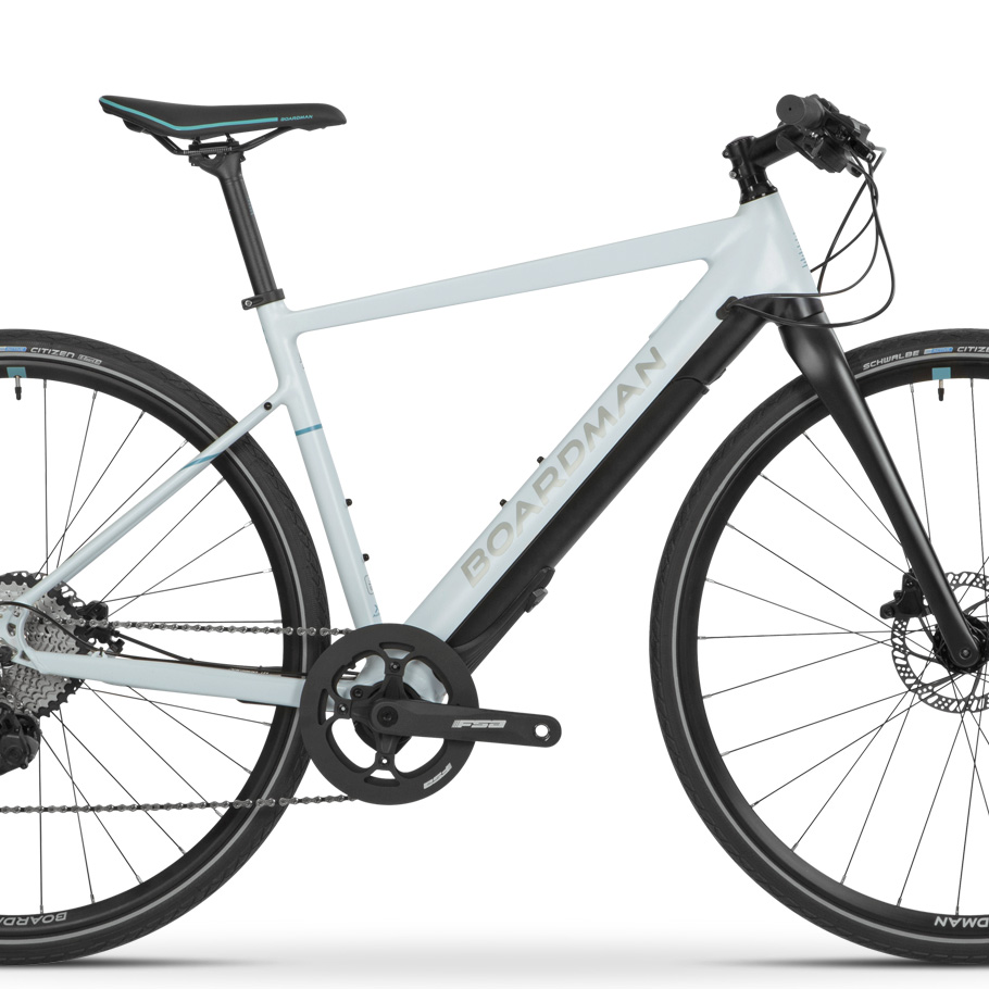 Boardman HYB 8.9 E Women's Hybrid Bike - Close-up of Framese