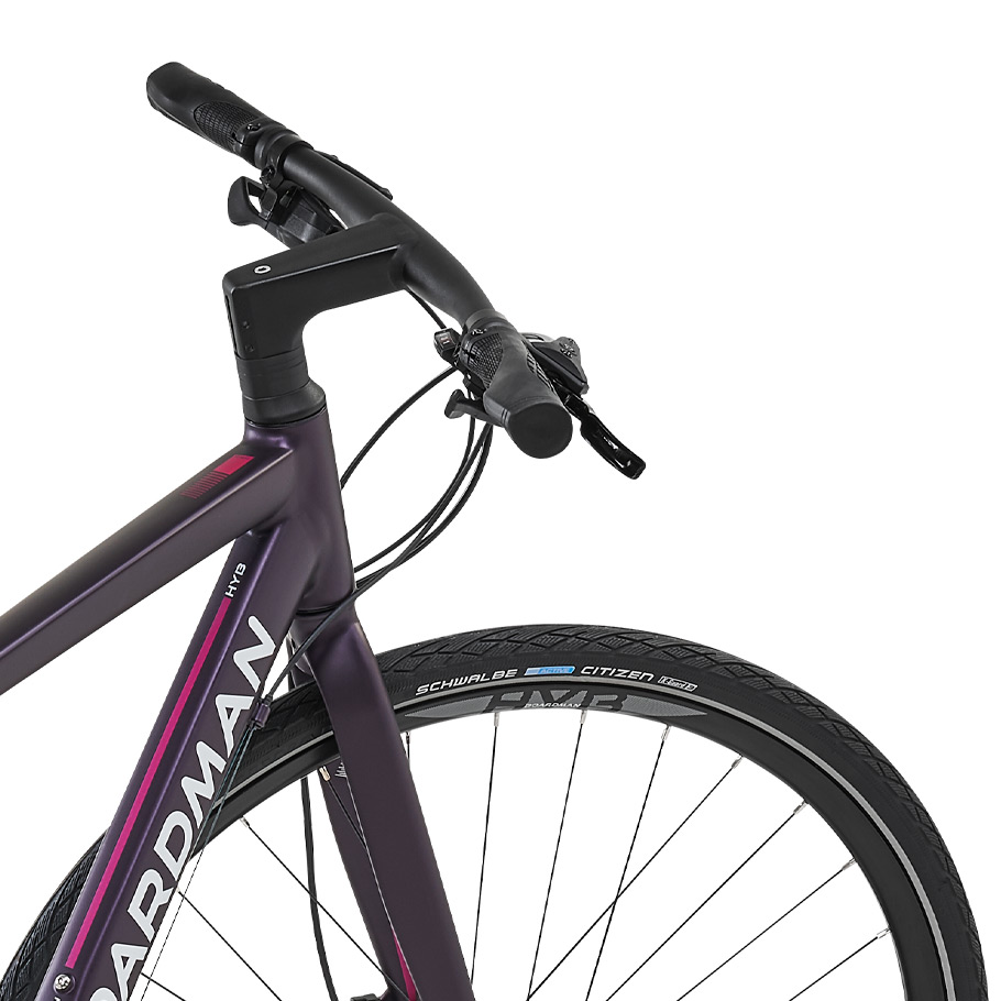 Boardman HYB 8.6 Womens Hybrid Bike - Close-up of Handlebars