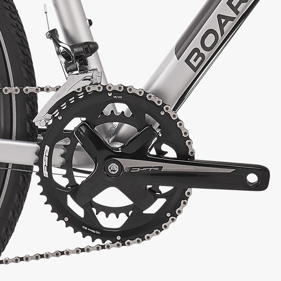 Boardman MTX Womens 8.8 Hybrid Bike - Close-up of Groupset