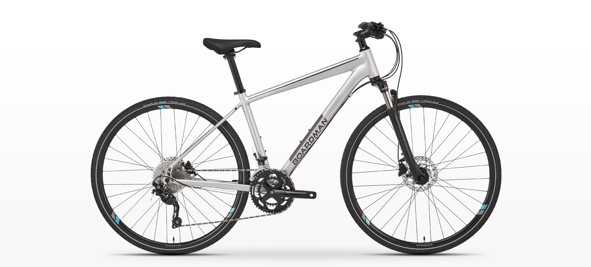 Boardman MTX 8.8 Womens Hybrid Bike in Silver
