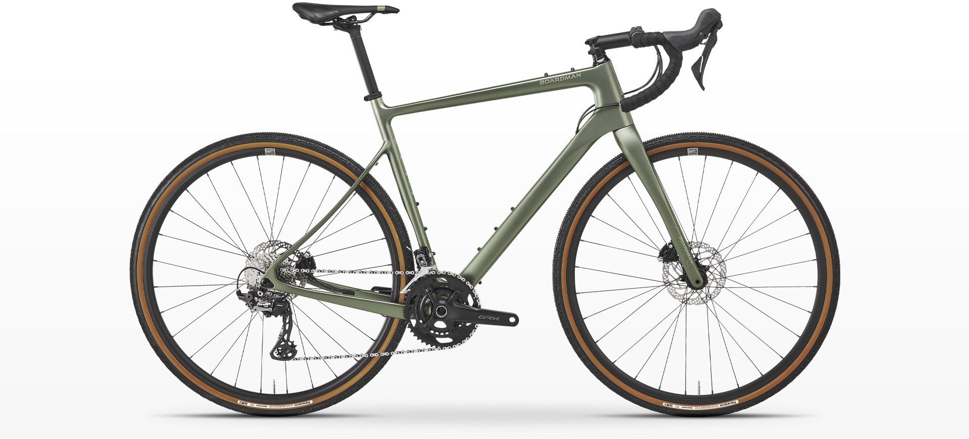 Boardman ADV 9.0 Carbon Adventure GRX Gravel Bike Image
